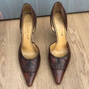 Yves Saint Laurent Brown Leather Heels